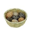 Northlight Seasonal 7 Piece Natural Tone Decorative Painted Design Spring Easter Egg Ornament Set