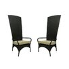 Northlight Seasonal Resin Wicker Outdoor Patio King Chairs with Cushion (Set of 2)