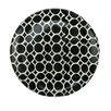 "Northlight Seasonal Basic Luxury 9.25"" Decorative Circles on Round Terracotta Dinner Plate"