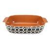 Northlight Seasonal Basic Luxury Decorative Circle Rectangular Terracotta Oven Baking Dish