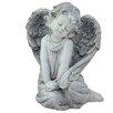 Northlight Seasonal Sitting Cherub Angel Outdoor Patio Garden Statue