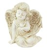 Northlight Seasonal Sitting Cherub Angel with Bird Outdoor Patio Garden Statue