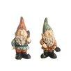 Northlight Seasonal 2 Piece Bearded Gardening Gnomes Statue
