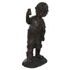 Northlight Seasonal Boy with Cell Phone Garden Statue