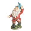 Northlight Seasonal Cheerfully Dancing Forest Gnome Garden Statue