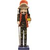 """Northlight Seasonal Decorative """"Gone Hunting"""" Wooden Christmas Nutcracker in Fatigues"""