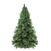Northlight Seasonal 7.5' Green Pine Artificial Christmas Tree with 450 LED and 150 Incandescent Warm White Lights with Stand