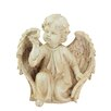 Northlight Seasonal Heavenly Gardens Cherub Angel on Bended Knee with Dove Outdoor Patio Garden Statue