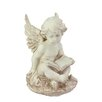 Northlight Seasonal Heavenly Gardens Sitting Cherub Angel with Book Outdoor Patio Garden Statue
