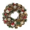 "Northlight Seasonal 13.5"" Pine Cone and Berries Artificial Christmas Wreath"