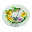 Glass Vibrant Hummingbird and Flowers Outdoor Garden Birdbath - Northlight Bird Baths