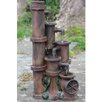 Resin Rusted Cascading Pipes Patio Garden Water Fountain - Northlight Indoor and Outdoor Fountains