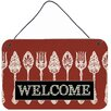 Caroline's Treasures Serving Spoons Welcome by Denny Knight Graphic Art Plaque