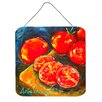 Caroline's Treasures Vegetables Tomato Slice It Up by Martin Welch Painting Print Plaque