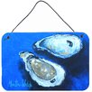 Caroline's Treasures Oysters Seafood Four by Martin Welch Painting Print Plaque