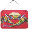 Caroline's Treasures Crab Seafood One by Martin Welch Painting Print Plaque