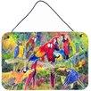 Caroline's Treasures Parrot by Sylvia Corban Painting Print Plaque
