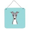 Caroline's Treasures Checkerboard Italian Greyhound by Denny Knight Graphic Art Plaque