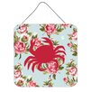 Caroline's Treasures Crab Shabby Elegance by Denny Knight Graphic Art Plaque