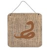 Caroline's Treasures Snake by Denny Knight Graphic Art Plaque in Brown