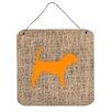 Caroline's Treasures Beagle by Denny Knight Graphic Art Plaque in Burlap and Orange