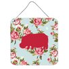 Caroline's Treasures Hippopotamus Shabby Elegance by Denny Knight Graphic Art Plaque