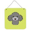Caroline's Treasures Poodle by Denny Knight Graphic Art Plaque in Gray
