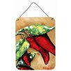 Caroline's Treasures Hot Peppers Hanging Painting Print Plaque