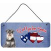 Caroline's Treasures Woof if you love America Schnauzer by Denny Knight Painting Print Plaque