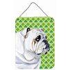 Caroline's Treasures Bulldog English St. Patrick'S Day Portrait by Lyn Cook Graphic Art Plaque