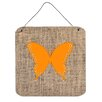 Caroline's Treasures Butterfly by Denny Knight Graphic Art Plaque in Orange