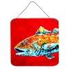 Caroline's Treasures Fish Red Fish Alphonzo Head Aluminum Hanging Painting Print Plaque