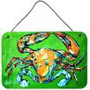 Caroline's Treasures Wide Load Crab Aluminum Hanging Painting Print Plaque