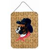 Caroline's Treasures Boxer Dog Country Lucky Horseshoe by Suzanne Powers Painting Print Plaque