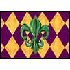 Caroline's Treasures Mardi Gras Fleur De Lis Purple Green and Gold Doormat