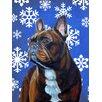 Caroline's Treasures French Bulldog Winter Snowflakes Holiday 2-Sided Garden Flag