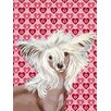 Caroline's Treasures Chinese Crested Hearts Love and Valentine's Day House Vertical Flag
