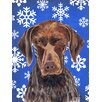 Caroline's Treasures German Shorthaired Pointer Winter Snowflakes Holiday House Vertical Flag