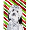 Caroline's Treasures Havanese Candy Cane Christmas House Vertical Flag