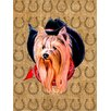 Caroline's Treasures Yorkie Dog Country Lucky Horseshoe House Vertical Flag