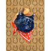 Caroline's Treasures Cairn Terrier Dog Country Lucky Horseshoe House Vertical Flag