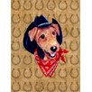 Caroline's Treasures Airedale Dog Country Lucky Horseshoe House Vertical Flag