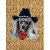 Caroline's Treasures Poodle Dog Country Lucky Horseshoe House Vertical Flag