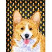 Caroline's Treasures Corgi Candy Corn Halloween House Vertical Flag