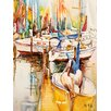 Caroline's Treasures Sailboats and Pelicans 2-Sided Garden Flag