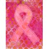 Caroline's Treasures Artsy Breast Cancer Pink Ribbon 2-Sided Garden Flag