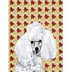Caroline's Treasures White Toy Poodle Fall Leaves 2-Sided Garden Flag