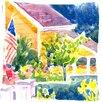 Caroline's Treasures Houses Indoor/Outdoor Throw Pillow