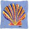 Caroline's Treasures Shells Indoor/Outdoor Throw Pillow