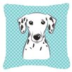 Caroline's Treasures Checkerboard Dalmatian Indoor/Outdoor Throw Pillow